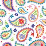 Teste padrão floral decorativo sem emenda do bordado do vetor Fotografia de Stock