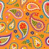 Teste padrão floral decorativo sem emenda do bordado do vetor, Fotografia de Stock