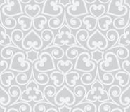 Teste padrão floral desenhado à mão sem emenda cinzento abstrato Imagens de Stock Royalty Free