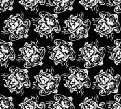 Teste padrão floral diagonal. ilustração royalty free