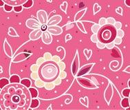 Teste padrão floral do dia do Valentim à moda Imagens de Stock
