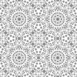 Teste padrão floral do esboço sem emenda Fotografia de Stock