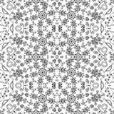 Teste padrão floral do esboço sem emenda Fotos de Stock