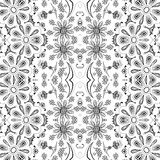 Teste padrão floral do esboço sem emenda Imagem de Stock Royalty Free