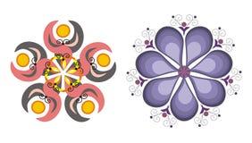 Teste padrão floral do floco de neve Fotografia de Stock Royalty Free