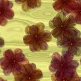 Teste padrão floral do fractal decorativo abstrato Imagens de Stock