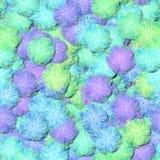 Teste padrão floral do fractal decorativo abstrato - as flores macias da luz suave assemelham-se às embreagens pairosas do tule o Imagem de Stock Royalty Free