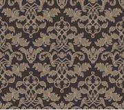 Teste padrão floral do fundo do vintage do damasco Imagem de Stock