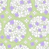 Teste padrão floral do fundo sem emenda abstrato Imagem de Stock Royalty Free