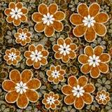 Teste padrão floral do Grunge Foto de Stock