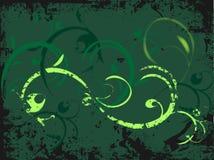 Teste padrão floral do grunge ilustração royalty free