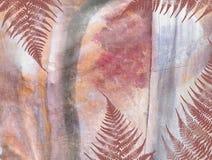 Teste padrão floral do grunge da selva tropical Fotos de Stock Royalty Free