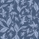 Teste padrão floral do grunge sem emenda do vintage com orquídea Imagem de Stock
