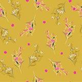 Teste padrão floral do jardim brilhante bonito na moda do verão no muitos ilustração stock