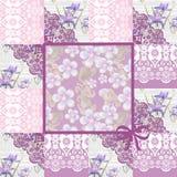 Teste padrão floral do laço sem emenda dos retalhos Fotos de Stock Royalty Free