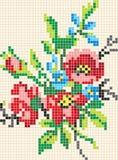 Teste padrão floral do mosaico Fotos de Stock Royalty Free
