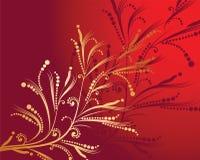 Teste padrão floral do ouro Imagens de Stock