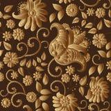 Teste padrão floral do ouro do vetor fotos de stock royalty free