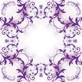 Teste padrão floral do teste padrão para o texto Fotografia de Stock Royalty Free