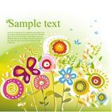 Teste padrão floral do verão Imagem de Stock