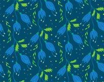 Teste padrão floral do vetor Foto de Stock