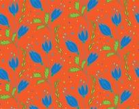 Teste padrão floral do vetor Imagens de Stock