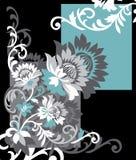 Teste padrão floral do vetor do projeto Fotografia de Stock
