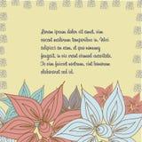 Teste padrão floral do vetor no estilo da garatuja Foto de Stock Royalty Free