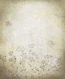 Teste padrão floral do vetor no fundo do grunge. Imagem de Stock