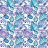 Teste padrão floral do vetor romântico elegante ilustração royalty free