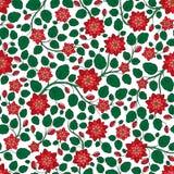 Teste padrão floral do vetor sem emenda com as plantas coloridas da fantasia e Imagem de Stock