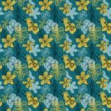 Teste padrão floral do vetor sem emenda com orquídeas tropicais ilustração stock