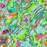 Teste padrão floral do vetor sem emenda da mola Ilustração Stock