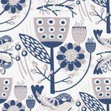 Teste padrão floral do vetor sem emenda para seus projetos Imagem de Stock Royalty Free