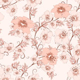 Teste padrão floral do vintage Fotografia de Stock Royalty Free