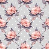 Teste padrão floral 11 do vintage bonito Fotos de Stock