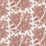 Teste padrão floral do vintage com rosas Imagens de Stock Royalty Free