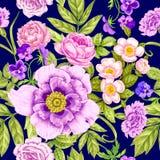 Teste padrão floral do vintage sem emenda ilustração do vetor