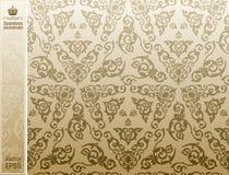 Teste padrão floral do vintage sem emenda do fundo Imagens de Stock Royalty Free