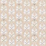 Teste padrão floral do vintage sem emenda do vetor Foto de Stock Royalty Free