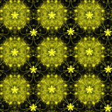 Teste padrão floral dourado Foto de Stock Royalty Free
