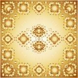 Teste padrão floral dourado Foto de Stock