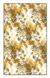 Teste padrão floral dourado do vetor Imagens de Stock