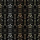 Teste padrão floral dourado sem emenda Foto de Stock Royalty Free