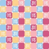 Teste padrão floral em telhas Foto de Stock