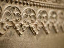 Teste padrão floral em uma parede do metal Fotos de Stock Royalty Free