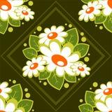 Teste padrão floral escuro Fotografia de Stock Royalty Free