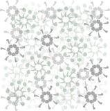 Teste padrão floral Flores assimétricas abstratas do ornamento, as azuis e as roxas no branco Imagem de Stock Royalty Free