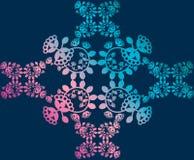 Teste padrão floral, fundo, laço Imagens de Stock Royalty Free