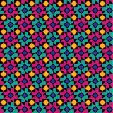 Teste padrão floral geométrico colorido Ilustração do Vetor